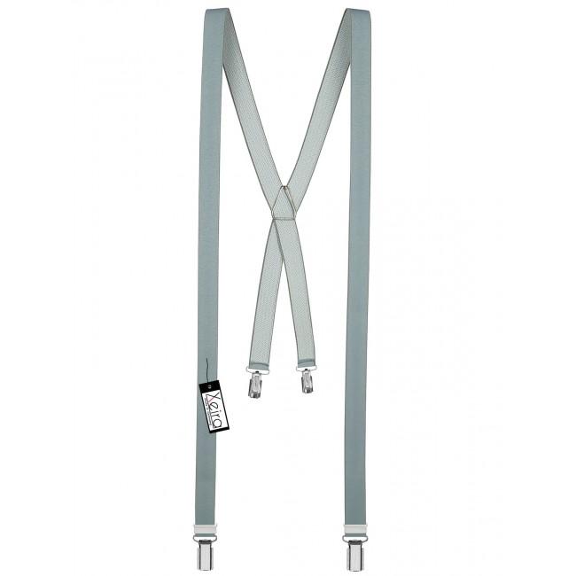 Xeira Uni und Neon Farben 25mm breite Hosenträger mit 3 Clips