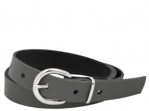 Echt Ledergürtel in Trendigen Grau - 2cm Breite