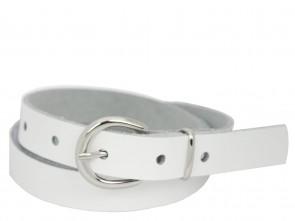 Echt Ledergürtel in Trendigen Weiß - 2cm Breite