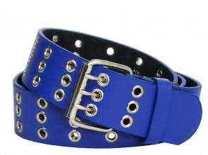 Nietengürtel Blau Metall Ösen