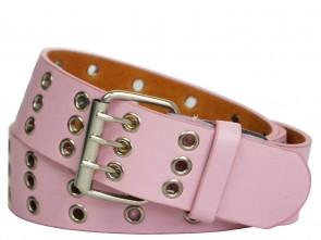 3 Reihe Nietengürtel mit Metall Ösen Pink