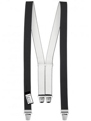 Hosenträger in Uni Design mit 4 Extra Starken XL Clips
