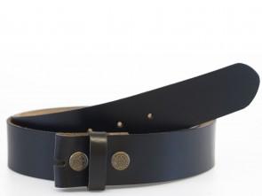 Echt Leder Wechselgürtel - Schwarz