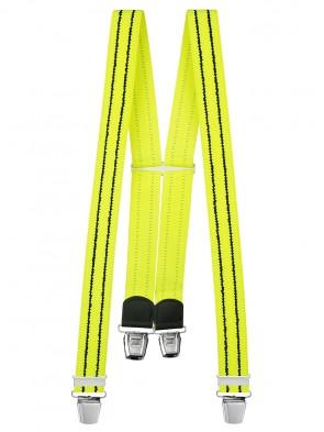Hosenträger in Neon Farben mit 4 Extra Starken XL Clips