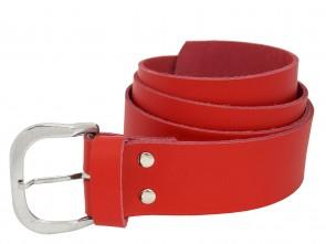 Echt Ledergürtel in Trendigen Rot - 4cm Breite