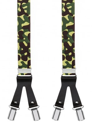 Hosenträger Army Design mit 6 Clips