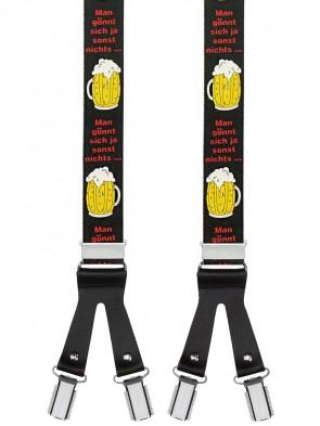 Hochwertige Hosenträger Bier Design mit 6 Clips