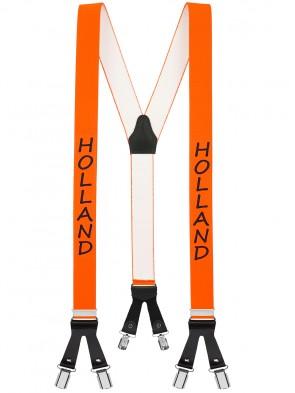 Hosenträger in Länder Design mit 6 Clips und Lederriemen-Holland