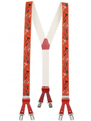 Hochwertige Hosenträger Handwerker Design mit 6 Clips