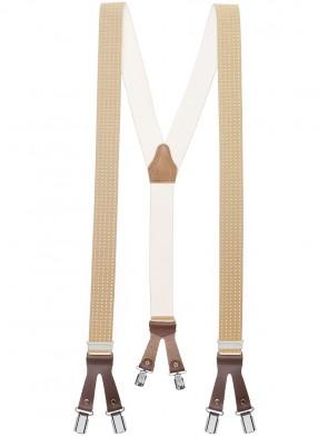 Hochwertige Hosenträger in Punkt Design mit 6 Clips