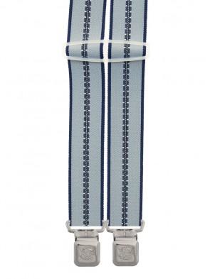 Xeira® - Hosenträger in Trendigen Grau/Grau Gestreift mit 4 Extra Starken XL Adler Clips