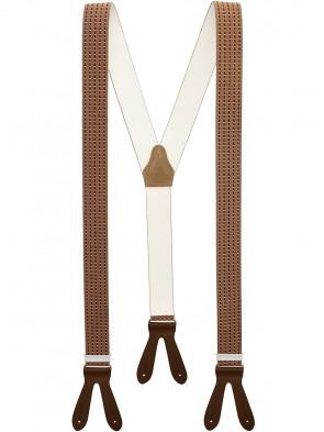 Hochwertige Hosenträger in Trendigen Streifen und Punkte Design mit Lederriemen