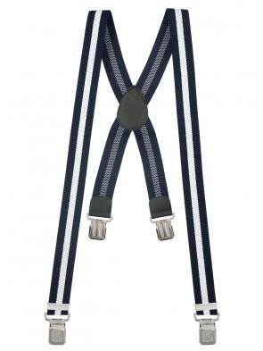Hosenträger X-Design in Gestreiften Farben mit 4 XL Alder Clips