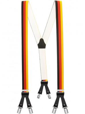 Hochwertige Hosenträger in Trendigen Deutschland / Frankreich / Italy Design mit Lederriemen und 6 Clips