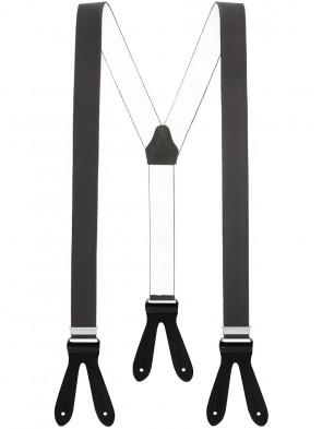Hochwertige Hosenträger in Trendigen Uni Farben mit Lederriemen
