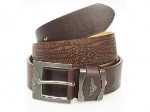 Gürtel in Eagle Design - 4cm Breit - Braun