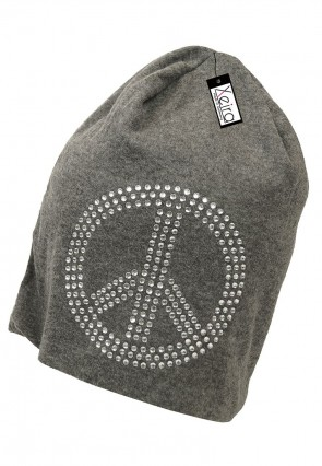 Beanie in trendigen Peace Design