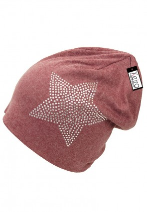 Beanie in Trendigen Star Design-Rot