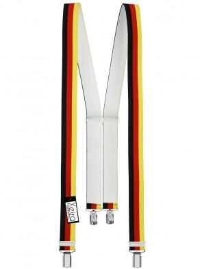 Hochwertige Hosenträger in Trendigen Deutschland Design mit 4 Clips