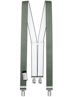 Hochwertige Hosenträger in Trendigen Vintage Design mit 4 Clips