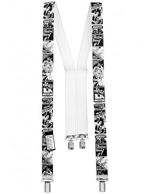 Hochwertige Hosenträger in Trendigen Jazz Design mit 4 Clips