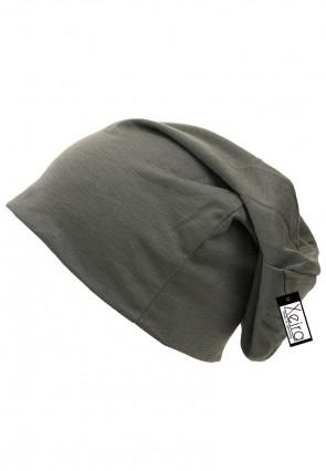 Beanie in trendigen Uni Farben-Dunkel Grau