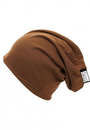 Beanie in trendigen Uni Farben-Braun