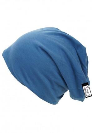 Beanie in trendigen Uni Farben-Blau