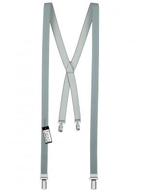 Hosenträger X- 4 Clips Design in Uni & Neon  - 25mm Breite
