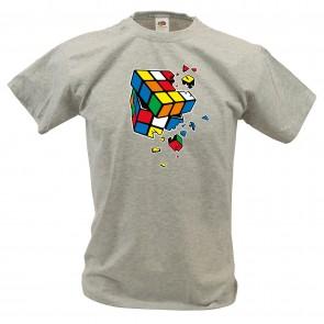 Sheldon - Exploding Würfel - T-Shirt -Braun