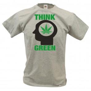 T-Shirt mit Think Green Design