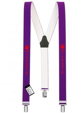 Hosenträger I am a Veggie Design mit 3 Clips von Xeira®-Lila