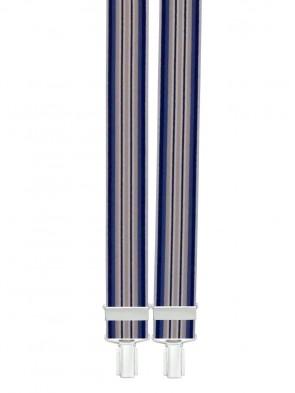 Hosenträger Blau Gestreift Design-25mm Breite-235