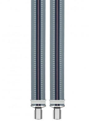 Hosenträger in Gestreiften Vintage Blau Gestreiften Design mit 4 Clips