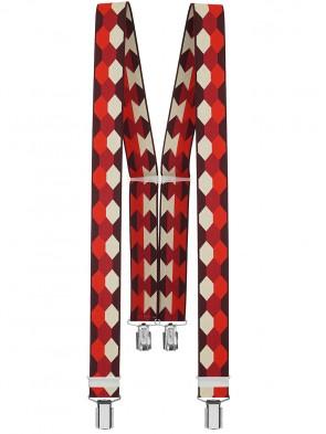 Xeira® - Hosenträger in Trendigen Retro Design  mit 4 starken Clips