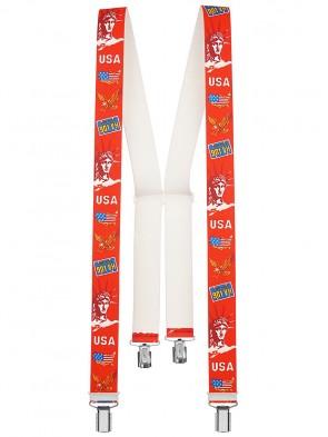 Hochwertige Hosenträger in  USA Design mit 4 Clips