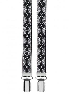 Hosenträger Retro Design - 25mm Breite - 4 Clips