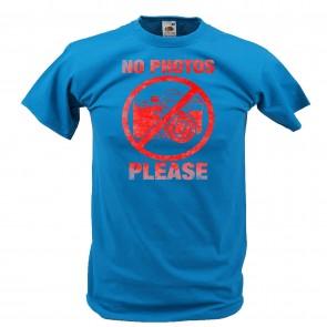 T-Shirt mit No Photo Please Design