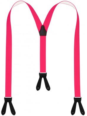 Hosenträger in Neon Farben  mit Schwarzen Lederriemen