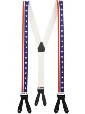 Hochwertige Hosenträger USA Design mit Lederriemen