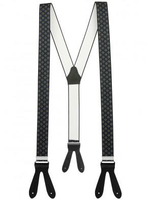 Hochwertige Hosenträger in Vintage Farben Design mit Lederriemen