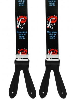 Hosenträger in Zigaretten Design mit Lederriemen