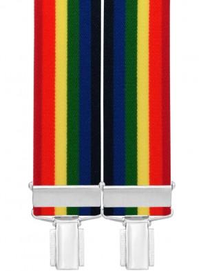 Hochwertige Hosenträger in Multicolor 4 Clip