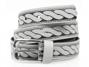 Ledergürtel 3cm Breit - Echt Leder - Vintage Grau / Schwarz