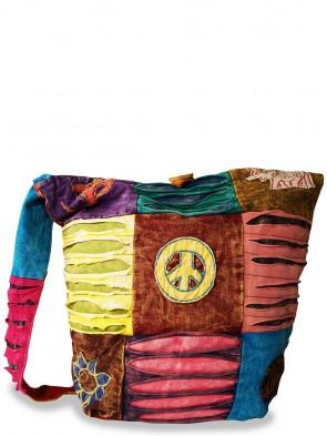 Trendige Ethno Hippie Yogi Stofftasche - Peace / Vintage Design