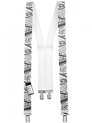 Hochwertige Hosenträger in Trendigen Wall Street Design mit 4 Clips