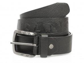 Gürtel in Jeans Design - 4cm Breit - Schwarz
