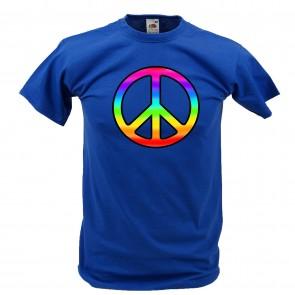 Peace T-Shirt Xeira Königsblau