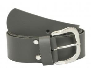 Echt Ledergürtel in Trendigen Grau - 4cm Breite