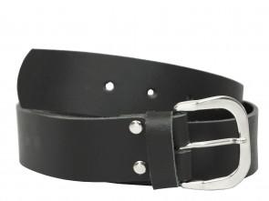 Echt Ledergürtel in Trendigen Schwarz - 4cm Breite